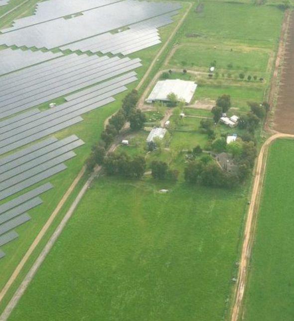 Aerial after solar farm